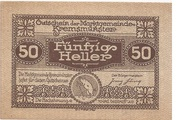 50 Heller (Kremsmünster) -  obverse