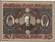 50 Heller (Krieglach) – obverse