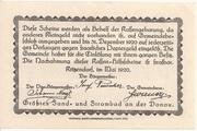 50 Heller (Kritzendorf) -  reverse