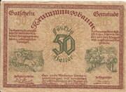 50 Heller (Krummnussbaum) – obverse