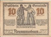 10 Heller (Krummnussbaum) – obverse