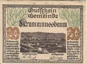 20 Heller (Krummnussbaum) – obverse