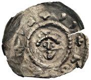 Brakteat hebrajski - Bolesław Mieszkowic (Kruszwica or Inowrocław mint) – obverse