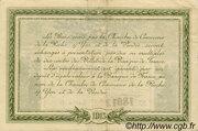 2 Francs - Chambre de Commerce de la Roche-sur-Yon et de la Vendée [85] – reverse