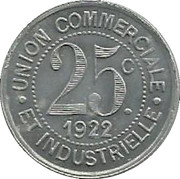 25 Centimes – reverse