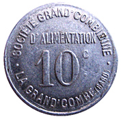 10 Centimes (La Grand'Combe) – obverse