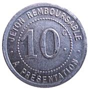 10 Centimes (La Grand'Combe) – reverse