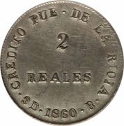 2 Reales – reverse