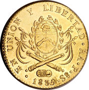 8 Escudos (Provincias del Rio de la Plata) – reverse