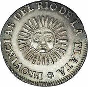 2 Soles (Provincias del Rio de la Plata) -  reverse
