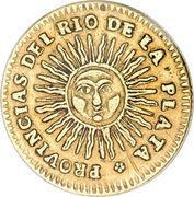 2 Escudos (Provincias del Rio de la Plata) – reverse