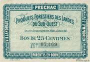 25 Centimes - Produits Forestiers des Landes du Sud-Ouest – obverse