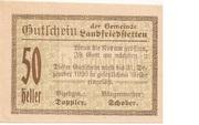 50 Heller (Landfriedstetten) -  obverse
