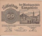 50 Heller (Langenlois) -  obverse