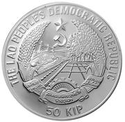 50 Kip (Endangered Wildlife; Piedfort) – obverse