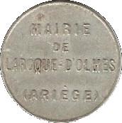 10 Centimes - Mairie de Laroque d'Olmes - Ariége [09] – obverse