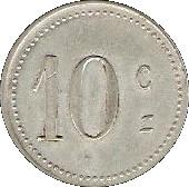 10 Centimes - Mairie de Laroque d'Olmes - Ariége [09] – reverse