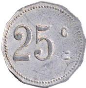 25 Centimes - Mairie de Laroque d'Olmes -  Ariège (09) – reverse