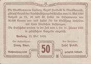 50 Heller (Lasberg) -  reverse