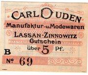 5 Pfennig (Carl Duden) – obverse