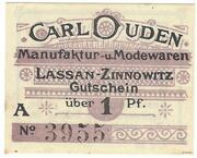 1 Pfennig (Carl Duden) – obverse