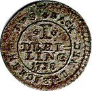 1 Dreiling - Georg II. August – reverse