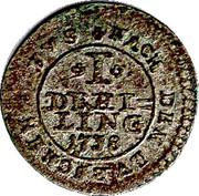 1 Dreiling - Georg II. August – reverse