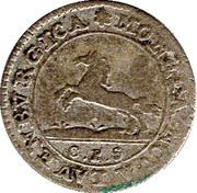 1 Shilling - Georg II. August – obverse