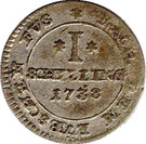 1 Shilling - Georg II. August – reverse