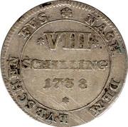 8 Schilling - Georg II. August – reverse