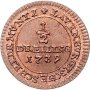 ½ Dreiling - George II. – reverse