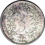 ⅔ Thaler - Friedrich VI – reverse