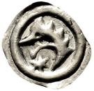 """1 Pfennig """"Löwenkopf Vierzipfliger"""" – obverse"""