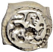 """1 Pfennig """"Vierzipfliger Löwenpfennig"""" – reverse"""