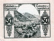 50 Heller (Lausa bei Losenstein) -  reverse
