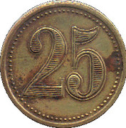 25 Centimes (Le Vigan) – reverse