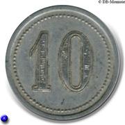 10 Centimes (Le Vigan) – reverse