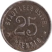 25 Pfennig - Leer in Ostfriesland – obverse