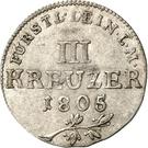 3 Kreuzer - Karl Friedrich Wilhelm – reverse