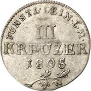 3 Kreuzer - Karl Friedrich Wilhelm -  reverse