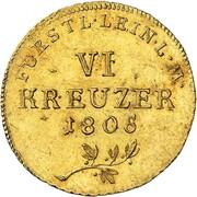 6 Kreuzer - Karl Friedrich Wilhelm (Gold Pattern) – reverse