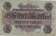 1,000,000 Mark (overprint on 5 Mark) – obverse