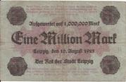 1,000,000 Mark (overprint on 5 Mark) – reverse