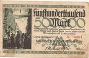 500,000 Mark  (Messamt für die Mustermessen in Leipzig) – obverse