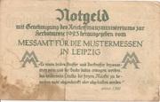 500,000 Mark  (Messamt für die Mustermessen in Leipzig) – reverse