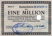 1,000,000 Mark (Teppichfabrikzentrale) – obverse
