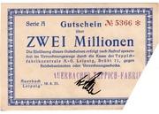 2,000,000 Mark (Teppichfabrikzentrale) – obverse