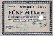 5,000,000 Mark (Teppichfabrikzentrale) – obverse