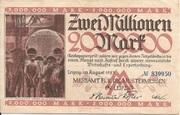 2,000,000 Mark (Messamt für die Mustermessen in Leipzig) – obverse
