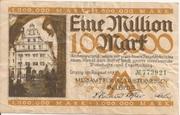 1,000,000 Mark  (Messamt für die Mustermessen in Leipzig) – obverse